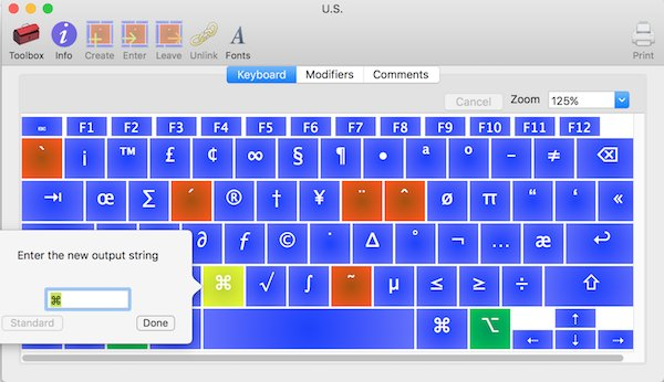 Ukelele remap keys