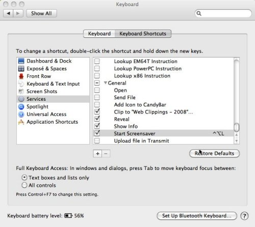 Mac keyboard preferences